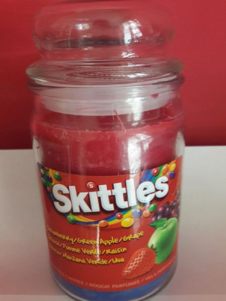 Skittles Scented Candle Strawberry / Green Apple / Grape 16oz